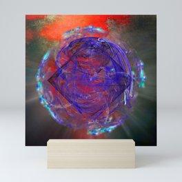 Portal to burning universe Mini Art Print