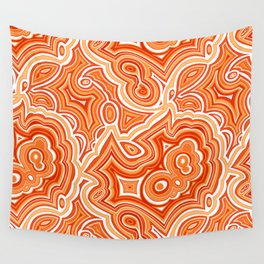 Red Agate Wall Tapestry