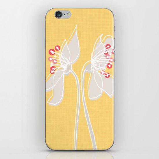 Cherry Blossom: Yellow iPhone & iPod Skin