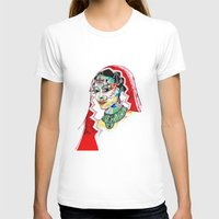 indian T-shirts featuring Indian by Cemile Demir Uzunoglu