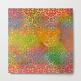 Colorful Moroccan pattern DP050-6 Metal Print