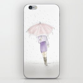 rainy day  #decoration #society6 #buyart iPhone Skin