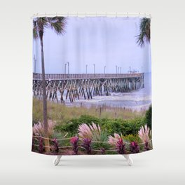 The Last Day Of The Surfside Pier Shower Curtain