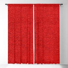 Rose Red Shag pile carpet pattern Blackout Curtain