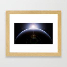 sunrise from space Framed Art Print