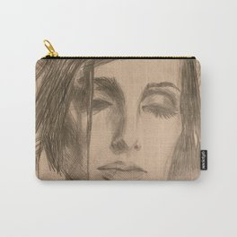 Home Decor Drawing a Woman Digital Art Living room Decoration Original Wall Print Carry-All Pouch