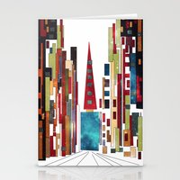 buildings Stationery Cards featuring Buildings by March Hunger