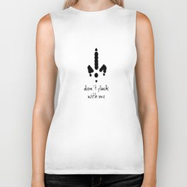 Don't Pluck with Me Anti Christmas and Thanksgiving Card Biker Tank