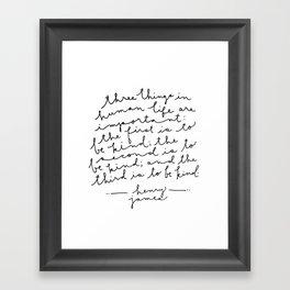 Be Kind Be Kind Be Kind Framed Art Print