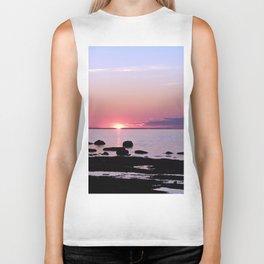 Coastal sunset Biker Tank