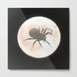Spider Moon Metal Print