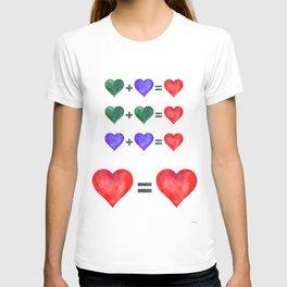 Love is love hearts pop art poster. T-shirt