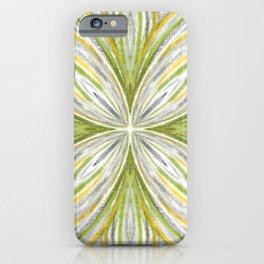Green and Grey Pastel Mandala iPhone Case