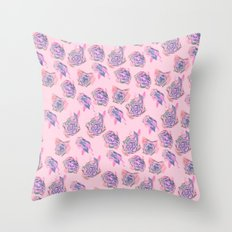 Rose pattern Throw Pillow