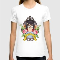 tina T-shirts featuring Tina - Everything's ok face  by Sara Eshak