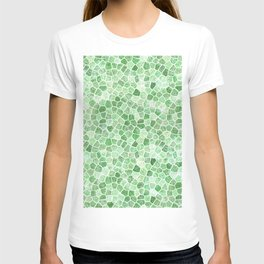 Pale Emerald and Pistachio Cobbled Patchwork T-shirt