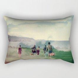 picnicking in the sky Rectangular Pillow