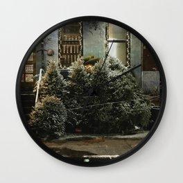Bushwick Snow 2017 Wall Clock