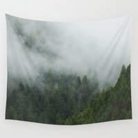 fog Wall Tapestries featuring Tree Fog by Kevin Russ