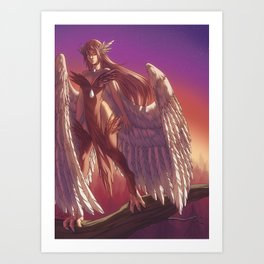 Harps Art Print