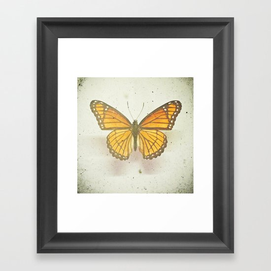 Golden Butterfly Framed Art Print