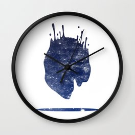 Space splash Wall Clock