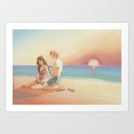 Annie and Finnick Art Print