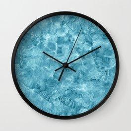 Blue onyx marble Wall Clock