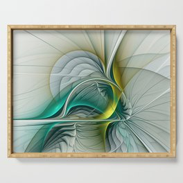 Fractal Evolution, Abstract Art Graphic Serving Tray