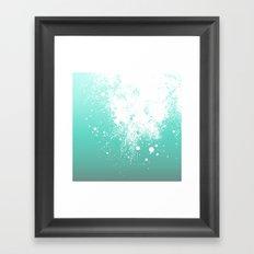 Splattered Ombre Framed Art Print