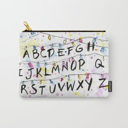 Alphabet Wall Christmas Lights Carry-All Pouch