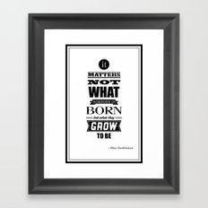 HP Quotes - Goblet of Fire Framed Art Print