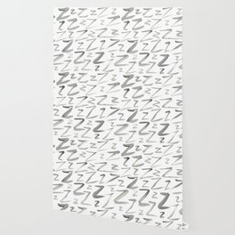 Watercolor Z's - Grey Gray Wallpaper
