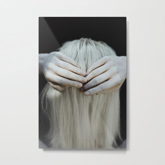White hair Metal Print