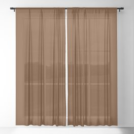 Delirious Place ~ Gingerbread Brown Sheer Curtain