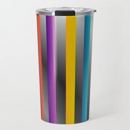 Colorful and shiny stripes on metal Travel Mug