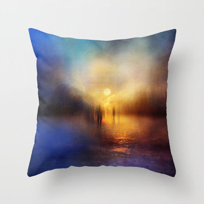 Light Echoes Throw Pillow