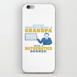 Mathematics Degree Grandpa iPhone Skin