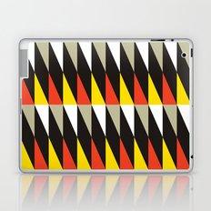 Midcentury red, black, grey & yellow Laptop & iPad Skin