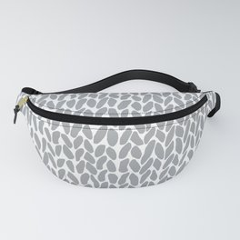 Hand Knit Zoom Grey Fanny Pack