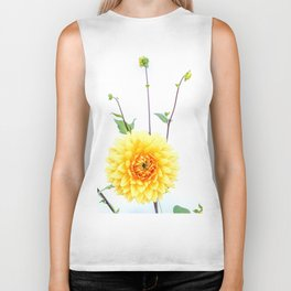 Bursting sunlight dahlia Biker Tank