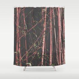 bamboo pink Shower Curtain