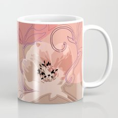 Hellabore line pattern, rose Mug