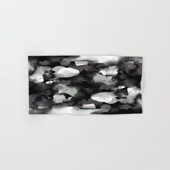 Raw Paint 2 - Black And White Hand & Bath Towel