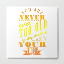 Fathers Day Celebration Metal Print