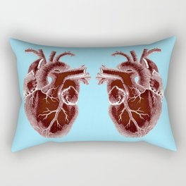 two hearts beat as one Rectangular Pillow