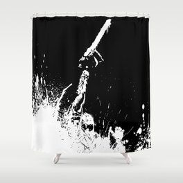 Evil Killer Shower Curtain