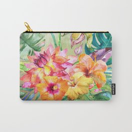 Tropical Hibiscus Garden Carry-All Pouch