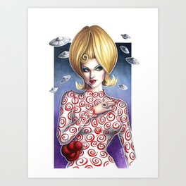 Mars Attacks Martian Girl Art Print