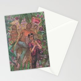 gay and tropical Stationery Cards